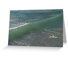 Crystal Clear Wave Movement Greeting Card