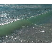 Crystal Clear Wave Movement Photographic Print