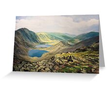 High in The Mountains Greeting Card