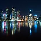 Brisbane City at Night by Jack McClane