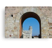 Entrance to piazza dei miracoli in Pisa Canvas Print