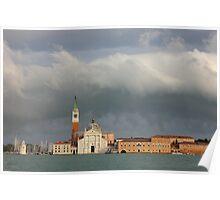 Church of San Giorgio Maggiore after the storm Poster
