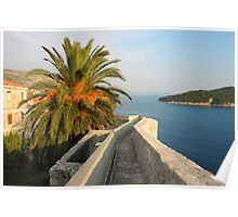 Dubrovnik Fortress Wall Seaview Poster