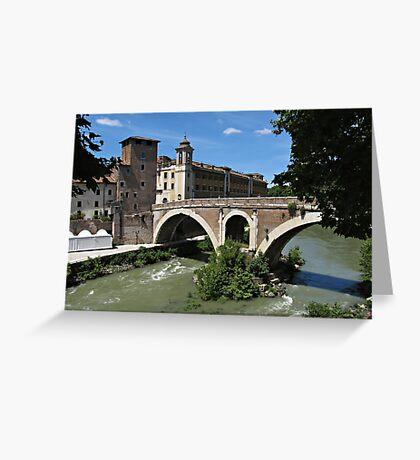 Rome Tiber Island Greeting Card