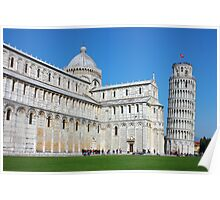 Piazza dei Miracoli with the Leaning Tower in Pisa Poster