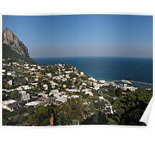 Capri view of Marina Grande Poster