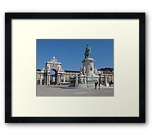 Lisbon Commerce Square Framed Print