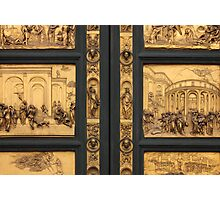 Doors of Paradise detail of The Florence Baptistry Photographic Print