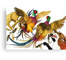 The Pheasants and the Fox Canvas Print