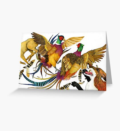 The Pheasants and the Fox Greeting Card