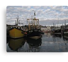Cornwall Mevagissey harbor Canvas Print