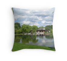 Chinese Tea Pavilion near the lake Throw Pillow