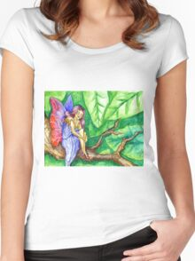 Tree Fairy Women's Fitted Scoop T-Shirt