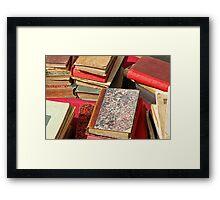Piles of old books Framed Print