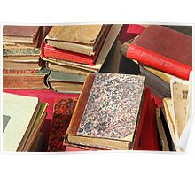Piles of old books Poster