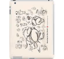 Panda And Polar Bear Dancing In The Street iPad Case/Skin