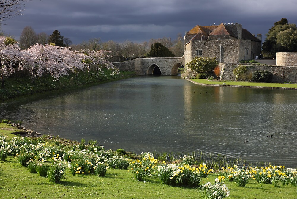 Leeds Castle in Kent United Kingdom by kirilart