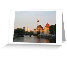 Berlin City View on river Spree Greeting Card