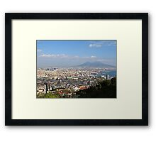 Naples Panoramic View Framed Print