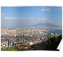 Naples Panoramic View Poster