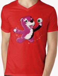 Breaking Bear Mens V-Neck T-Shirt
