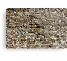 Ancient Stone Wall Background Metal Print