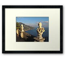 Terrace of Infinity in Ravello on Amalfi Coast Framed Print