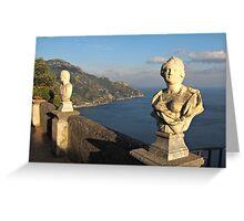 Terrace of Infinity in Ravello on Amalfi Coast Greeting Card