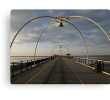 Pier in Southport United Kingdom Canvas Print