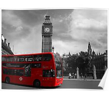 Red Bus London Poster