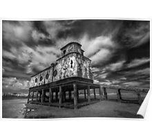Lifeboat Station BW Poster