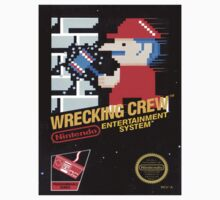 Wrecking Crew Nes Art Kids Clothes