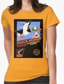 Duck Hunt Nes Art Womens Fitted T-Shirt