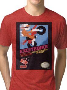 Excite Bike Nes Art Tri-blend T-Shirt