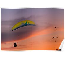 Sunset Gliders Poster
