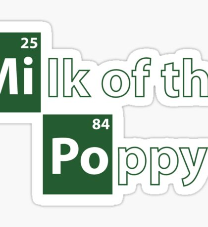 Game of Thrones Breaking Bad Milk of the Poppy Sticker