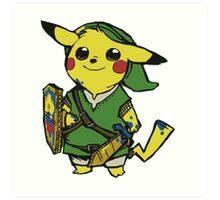 Pikachu Zelda Art Print