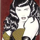 Bettie Page sketchcard by wu-wei