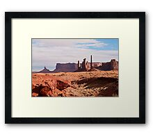 Monument Valley Totem Pole Framed Print