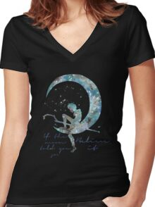 when the moon told you so Women's Fitted V-Neck T-Shirt
