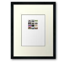mix tape tee Framed Print