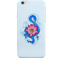 Lotus Flower Blue iPhone iPod Case iPhone Case/Skin
