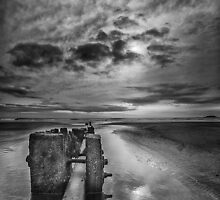 Mood 2. Youghal Beach. Ireland by Pete Burclaff