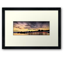 Sunrise Silhouette by Smart Imaging Framed Print