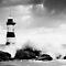 Black & White Nautical Light House close up