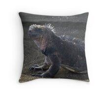 Modern Day Godzilla [Marine Iguana] Throw Pillow