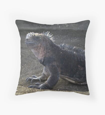 Modern Day Godzilla [Marine Iguana] Throw Pillow