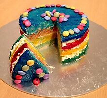 Rainbow Cake Slice by Freyart