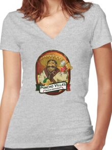 Poncho Villa Women's Fitted V-Neck T-Shirt