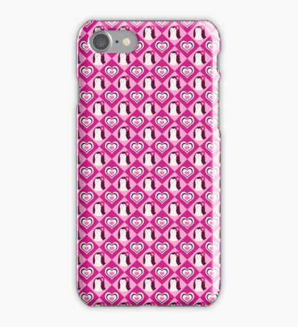 Penguin Hearts Pattern iPhone Case/Skin